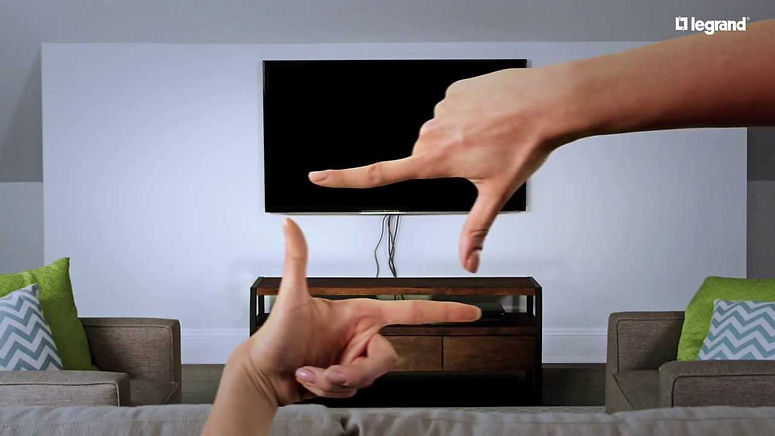 wall mounted TV with wires concelled hidden