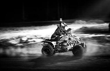 black-and-white-atv-night-racing-racing-