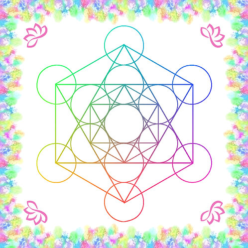 Crystal Grid Board - Metatron's Cube