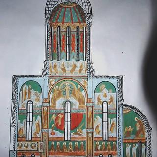 Проект росписи храма пророка Илии