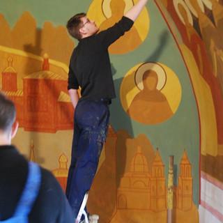Роспись храма свт. Николая Чудотворца в Покровском