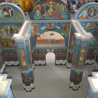 Макет храма Афанасия и Феодосия Череповецких