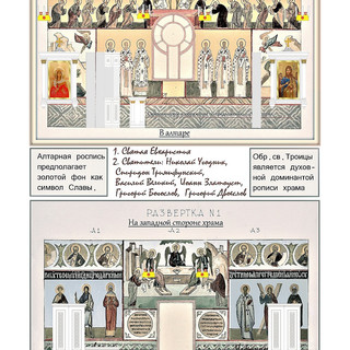 Проект росписи храма Андрея Первозванного