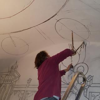 Процесс росписи храма