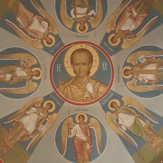 Роспись часовни Иулианнии Вяземской и Евпраксии Рязанской