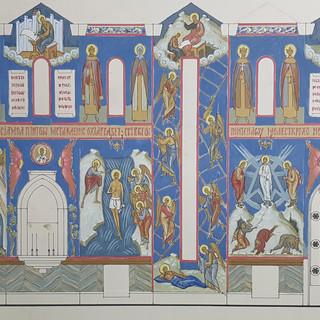 Проект росписи часовни Иоанна Богослова