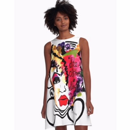 CLOTHED IN STRENGTH & DIGNITY A LINE DRESS