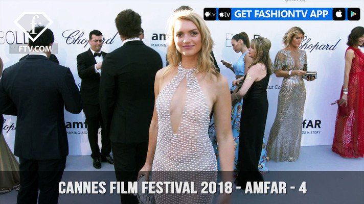 Fashion TV Interview, Fancy Alexandersson arrives at the amfAR Gala Cannes 2018 at Hotel du CapEdenRoc on May 17.