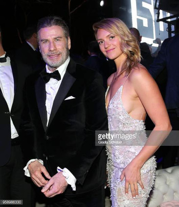Fancy Alexandersson during the party in Honour of John Travolta's receipt of the Inaugural Variety Cinema Icon Award during the 71st annual Cannes Film Festival at Hotel du Cap-Eden-Roc on May 15, 2018 in Cap d'Antibes, France.
