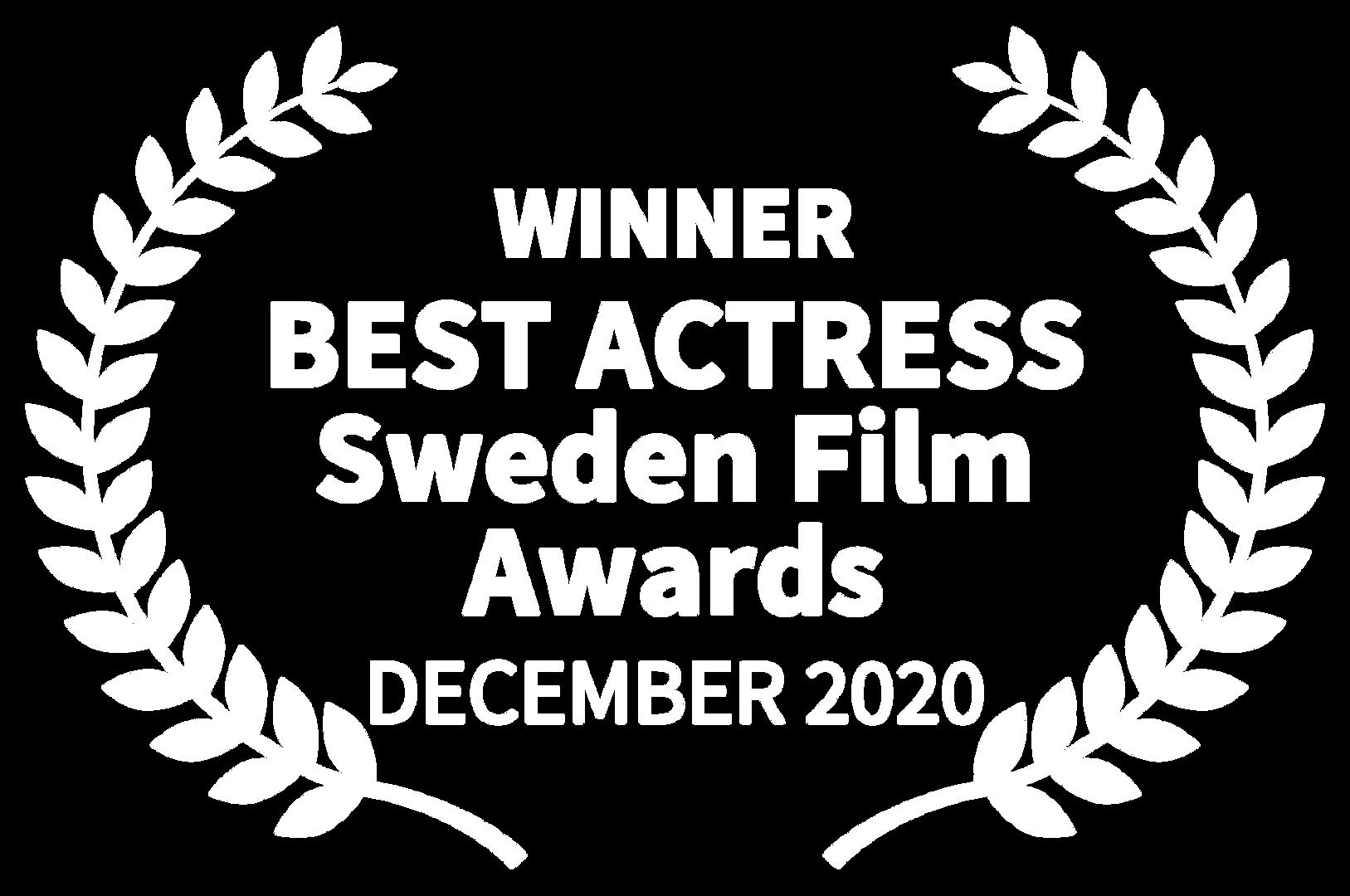 WINNER - BEST ACTRESS Sweden Film Awards