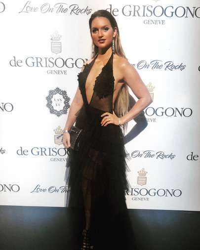 Fancy Alexandersson arrives at the De Grisogono party during the 70th Annual Cannes Film Festival at Hotel du Cap Eden Roc, Cap d'Antibes, France, on 23 May 2017.