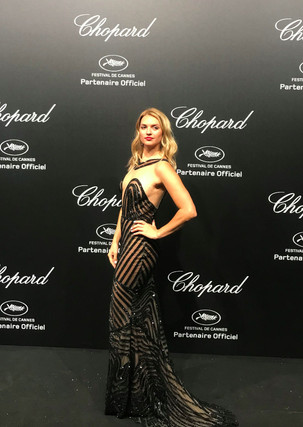 Fancy Alexandersson attends Chopard Secret Night during the 71st annual Cannes Film Festival at Chateau de la Croix des Gardes on May 11 2018 in Cannes France.