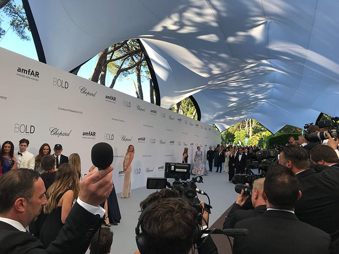Fancy Alexandersson arrives at the amfAR Gala Cannes 2018 at Hotel du CapEdenRoc on May 17.