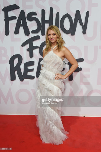 Fancy Alexandersson attends Fashion for Relief Cannes 2018 during the 71st annual Cannes Film Festival at Aeroport Cannes Mandelieu on May 13, 2018 in Cannes, France.