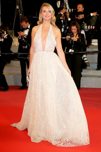 Fancy Alexandersson attends the screening of 'Dogman' during the 71st annual Cannes Film Festival.