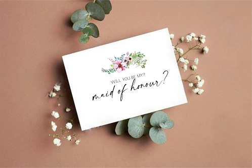 Personalised Will you Be my Maid of Honour greeting card Ireland