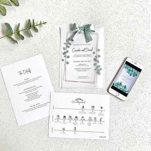 Wedding invitation Ireland Wedding invitation set