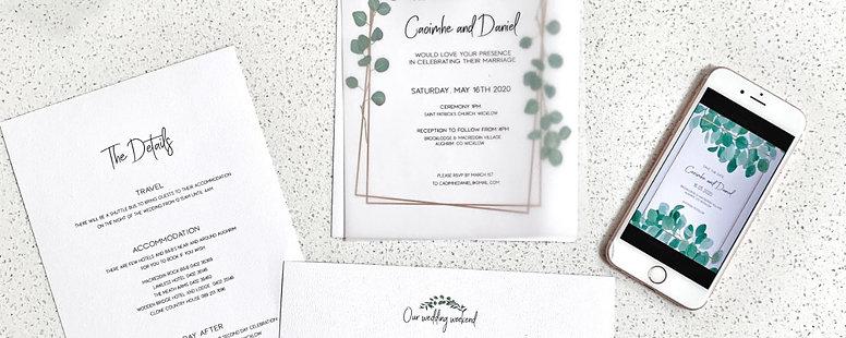 Wedding Invitation Set  | The Greenery