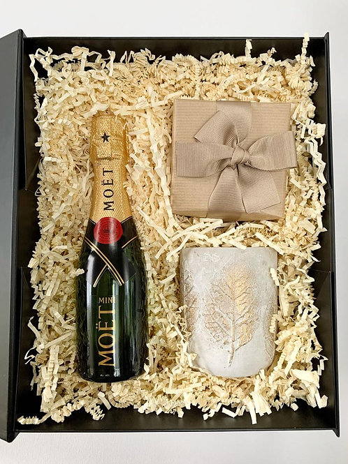 Personalised Engagement Gift Hamper Ireland with champagne and chocolate