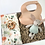 Floral muslin swaddle La Romi baby gift box with teddy, silicone bib, teething rattle by baby bubbles