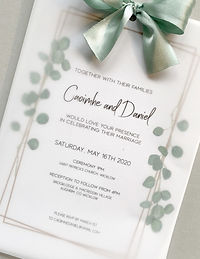 Wedding Invitation Vellum Save the Date