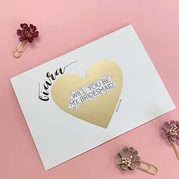 Proposal Bridesmaid Scratch Card Golden