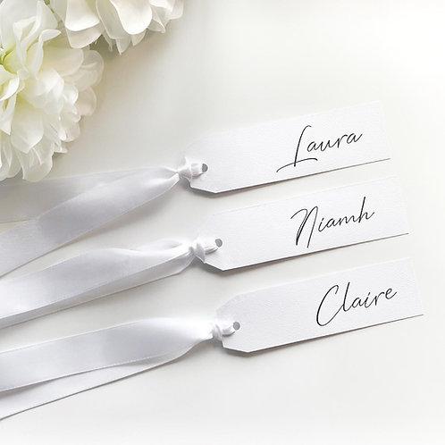 Simple Personalised wedding hanger tag bride bridal party