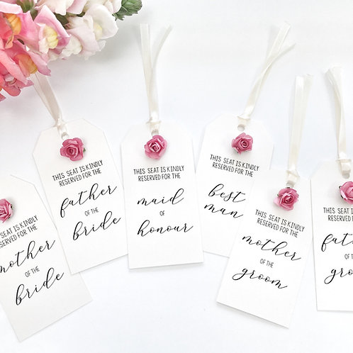 Wedding Seating Tag | Bridal Party