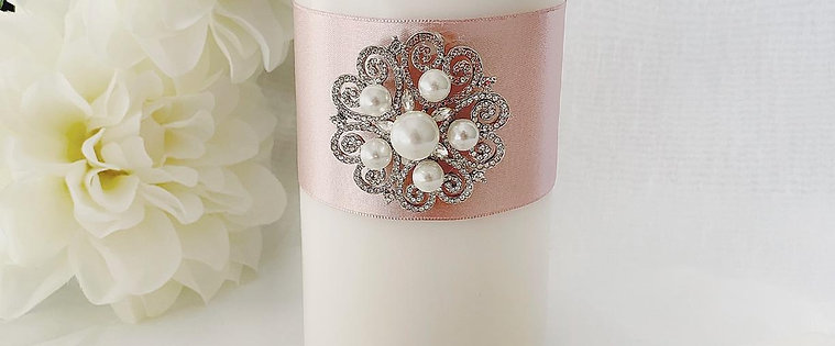 Unity Candle Set | Pearl Collection