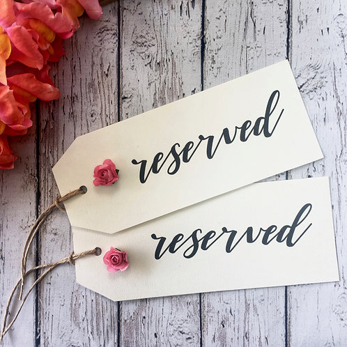 Wedding Seating Tag | Reserved Row