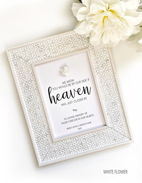 Wedding Signs | In Loving Memory