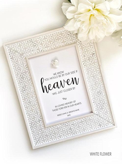 Wedding Signs   In Loving Memory