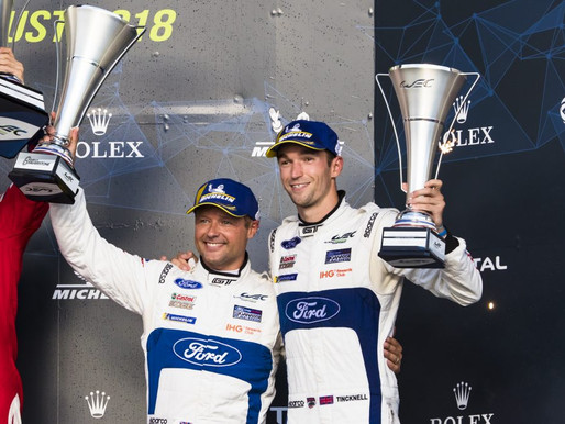 Andy Priaulx on the Podium for the 3rd round of the FIA WEC Super Season 6 Hours of Silverstone