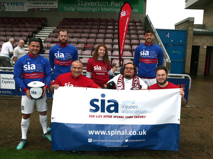 Spinal Injuries Association guests for the Brands Hatch season finale