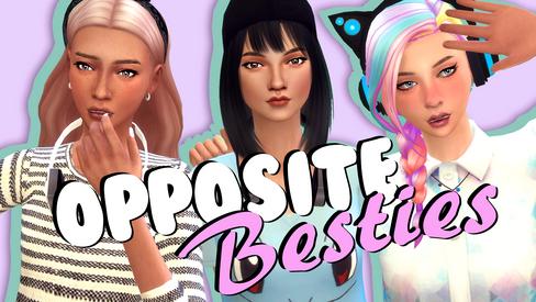 Sims | Opposite Besties (Gamer Girls)