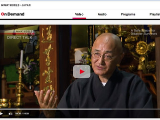 NHK WORLDーJAPANにて配信中  A Safe Space for Disaster Survivors: Kaneta Taio / Buddhist Monk