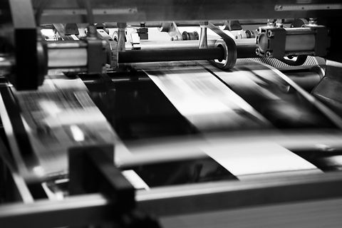 printer in use on a printing run