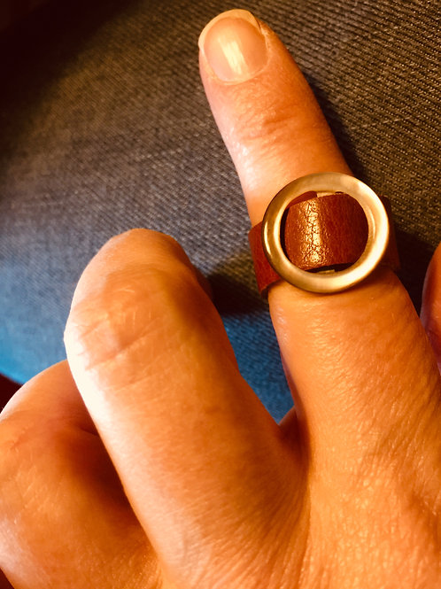 Russet Leather Ring