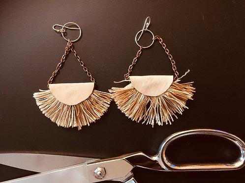 Upcycled Tassel Earrings