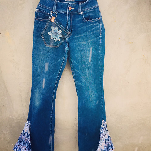 Upcycled Bell Bottom Jeans