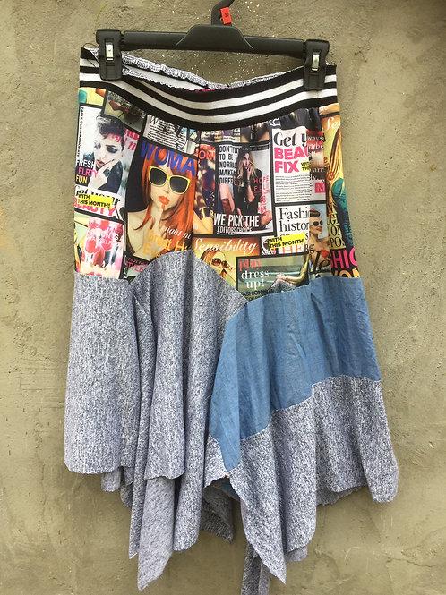 Vintage Fashion Magazine Skirt