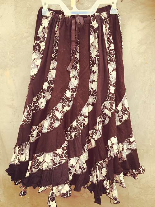 Cotton Gauze Black and White Skirt