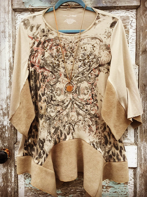 Beige on Beige upcycled tunic