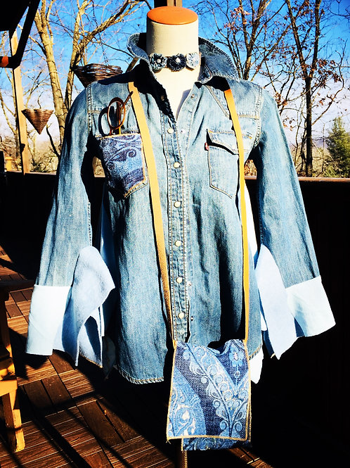 Upcycled Vintage Levis Shirt