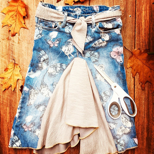 Kids Upcycle Jeans 2 Skirt