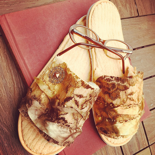 VIntage Lace Slippers
