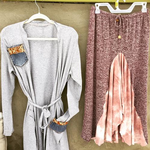 Upcycled Denim Pocket Robe