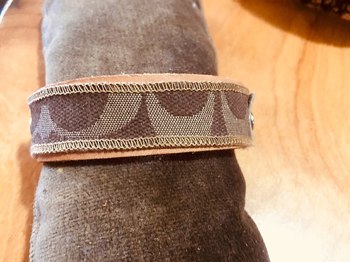 Upcycled Coach Leather Cuff
