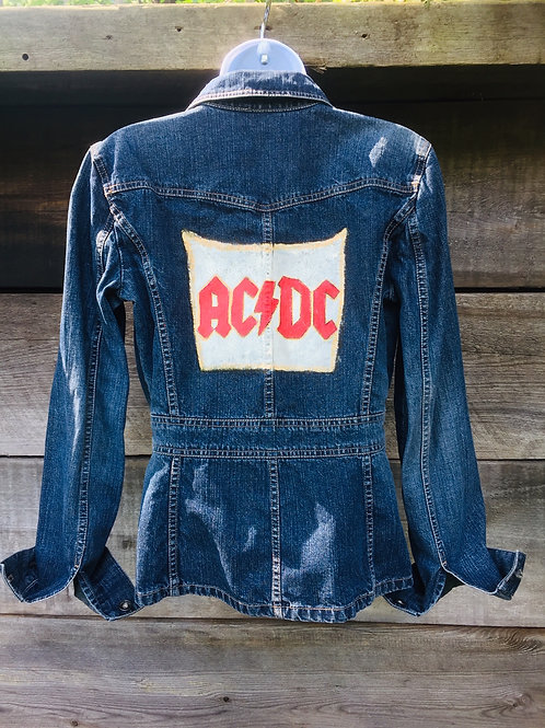 ACDC Upcycled Jean Jacket