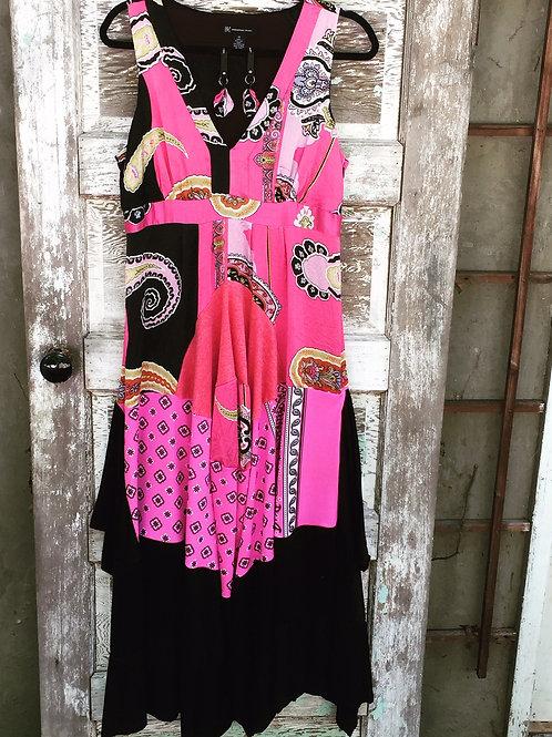 Upcycled Silk Gypsy Maxi Dress